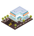 urban architecture isometric composition vector image vector image