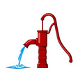 water stream water pump design isolated on white vector image