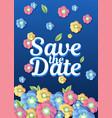 Wedding floral template wedding invitation