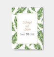 wedding invitation isolated vector image vector image