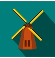 Windmill icon in flat style