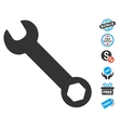 Wrench Icon With Free Bonus vector image vector image
