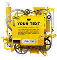 yellow complex fantastic machine vector image
