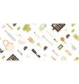 zero waste background in minimalism style vector image vector image