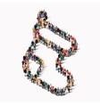 people shape sock christmas gifts vector image
