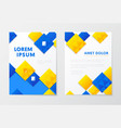 annual report business brochure booklet leaflet vector image
