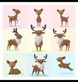 Set of Deer family vector image