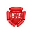 Red best seller sticker vector image