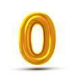 0 zero number golden yellow metal letter vector image vector image