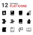 12 learning icons vector image vector image