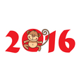2016 Year of Monkey vector image