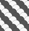 3D white and gray overlapping half circles vector image