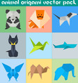 Animal Origami Pack vector image