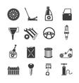 Auto Service Icons Black vector image