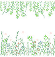 beautiful hand drawn greenery doddle background vector image vector image