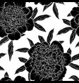 beautiful monochrome black and white seamless vector image vector image