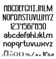 black alphabet uppercase lowercase letters vector image