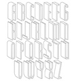 black and white 3d font made with thin lines