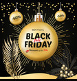 black friday sale christmas and new year shopping vector image