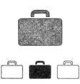 Briefcase icon set - sketch line art vector image vector image