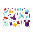 bundle equipment and tools for performing magic vector image vector image