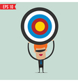 Cartoon business man with the target - - EP vector image