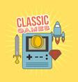 classic games console coin rocket sword diamond vector image vector image