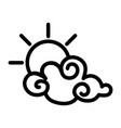 clouds with sun cartoon vector image