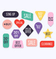 collection premium promo sealsstickers vector image vector image