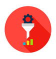 data funnel statistics circle icon vector image vector image