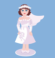Figurine Of Bride vector image
