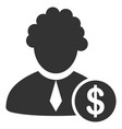 financial judge flat icon vector image