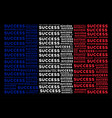 french flag mosaic of success texts vector image