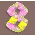 geometric crystal digit 8 vector image vector image
