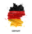 germany flag watercolor painting design country vector image
