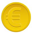Gold euro coin vector image