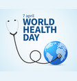 health day wellness health protection and global vector image vector image
