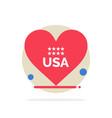 heart love american usa abstract circle vector image vector image