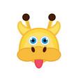 isolated cute giraffe avatar vector image vector image