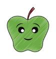 kawaii apple vector image vector image