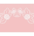 Lace pattern on a pink background White flowers vector image vector image