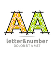 letter a alphabet element symbol vector image