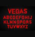 light neon font vector image