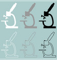 microscope white grey black icon vector image vector image