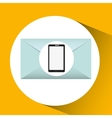 mobile cellphone email envelope icon vector image