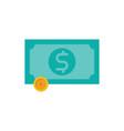 money icon cash banknotes vector image