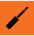 Music jack plug-in icon vector image vector image