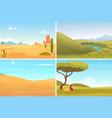 nature landscape desert safari park agriculture vector image vector image