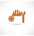 Orange setting icon vector image vector image