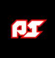 pi logo design initial pi letter design vector image vector image